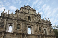 Ruinas da Antiga Catedral de Сан-Паулу Стоковые Изображения