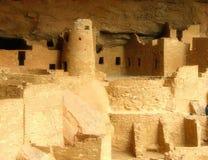 Ruinas de Anasazi del parque nacional del verde del mesa Fotos de archivo