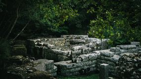 Ruinas de Ancien de Butrint Albania foto de archivo