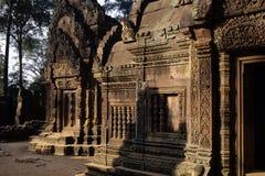 Ruinas de Angkor Wat del templo de Banteay Srei, Camboya Foto de archivo