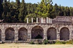 Ruinas de Asklepieion Kos Fotos de archivo