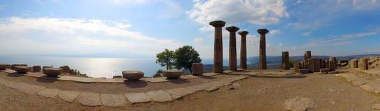 Ruinas de Assos, Canakkale, Turquía imagen de archivo