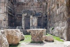 Ruinas de Baalbek, Líbano Imagenes de archivo