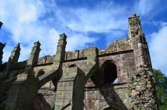 Ruinas de Beautuiful de la abadía de Holyrood Imagenes de archivo