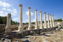 Ruinas de Beit She ' Fotos de archivo