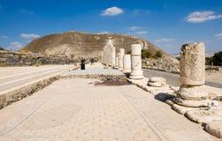 Ruinas de Beit She ' Imagen de archivo libre de regalías