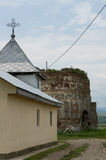 Ruinas de Bociulest Imágenes de archivo libres de regalías