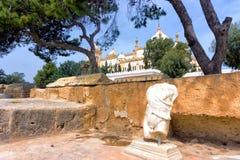 Ruinas de Cartago en Túnez imagenes de archivo
