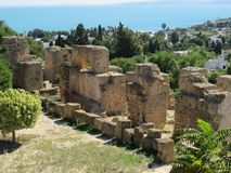 Ruinas de Carthago del capital de la civilización cartaginesa antigua Sitio del patrimonio mundial de la UNESCO fotos de archivo