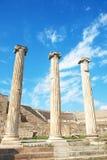 Ruinas de columnas en Asklepion Imagenes de archivo