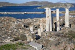 Ruinas de Delos Imagen de archivo libre de regalías