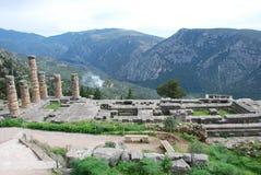 Ruinas de Delphi Imagenes de archivo