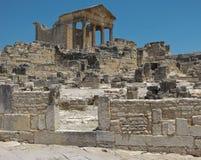 Ruinas de Dougga Foto de archivo libre de regalías