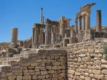 Ruinas de Dougga Imágenes de archivo libres de regalías