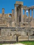 Ruinas de Dougga Fotografía de archivo libre de regalías