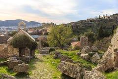 Ruinas de edificios viejos Foto de archivo libre de regalías