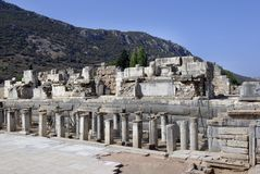 Ruinas de Ephesus Fotos de archivo libres de regalías