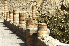 Ruinas de Ercolano - Nápoles, Italia Fotografía de archivo
