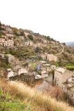 Ruinas de Gairo en Cerdeña Foto de archivo