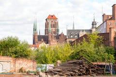 Ruinas de Gdansk Foto de archivo libre de regalías