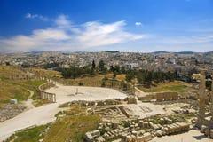 Ruinas de Gerasa (Jerash) Imágenes de archivo libres de regalías