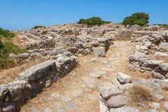 Ruinas de Gournia. Crete, Grecia imagen de archivo libre de regalías