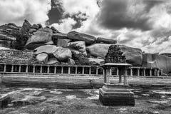 Ruinas de Hampi fotografía de archivo libre de regalías