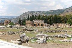 Ruinas de Hierapolis, Turquía Fotografía de archivo