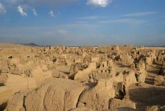 Ruinas de Jiaohe Foto de archivo libre de regalías