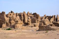 Ruinas de Jiaohe Fotos de archivo libres de regalías