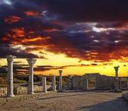 Ruinas de Khersones Fotos de archivo libres de regalías