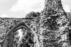 Ruinas de la abadía B de Glastonbury Foto de archivo