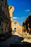 Ruinas de la abadía de Bellapais en Kyrenia, Chipre Imagen de archivo libre de regalías