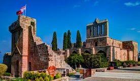 Ruinas de la abadía de Bellapais en Kyrenia, Chipre Fotos de archivo