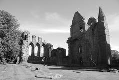Ruinas de la abadía de Arbroath Imagenes de archivo