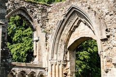 Ruinas de la abadía A de Glastonbury Imagen de archivo