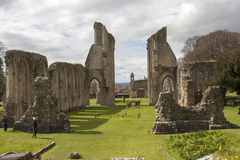 Ruinas de la abadía de Glastonbury Fotografía de archivo