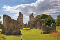 Ruinas de la abadía de Glastonbury, Somerset, Inglaterra Imagenes de archivo