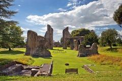 Ruinas de la abadía de Glastonbury, Somerset, Inglaterra Imágenes de archivo libres de regalías