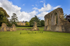 Ruinas de la abadía de Glastonbury, Somerset, Inglaterra Fotografía de archivo