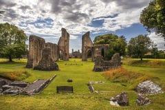 Ruinas de la abadía de Glastonbury, Somerset, Inglaterra Foto de archivo