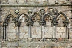 Ruinas de la abadía de Holyrood, Edimburgo Imagen de archivo