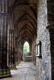 Ruinas de la abadía de Holyrood, Edimburgo Fotografía de archivo