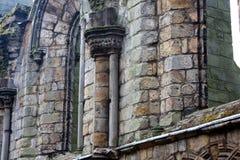 Ruinas de la abadía de Holyrood, Edimburgo Fotos de archivo
