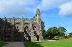 Ruinas de la abadía de Holyrood en Edimburgo Escocia Foto de archivo