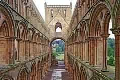 Ruinas de la abadía de Jedburgh Imagenes de archivo