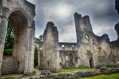 Ruinas de la abadía de Jumieges, Francia Imágenes de archivo libres de regalías
