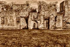 Ruinas de la abadía de Netley que una sepia cisterciense de HDR del monasterio entona Imagen de archivo libre de regalías