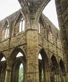 Ruinas de la abadía de Tintern, una iglesia anterior en País de Gales Imagenes de archivo