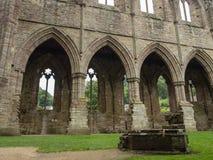 Ruinas de la abadía de Tintern, una iglesia cisterciense anterior del 12ma Foto de archivo